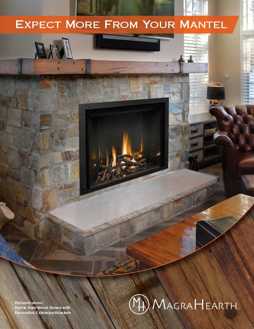 Magra Hearth Wood Mantel Non-Combustible Material 3