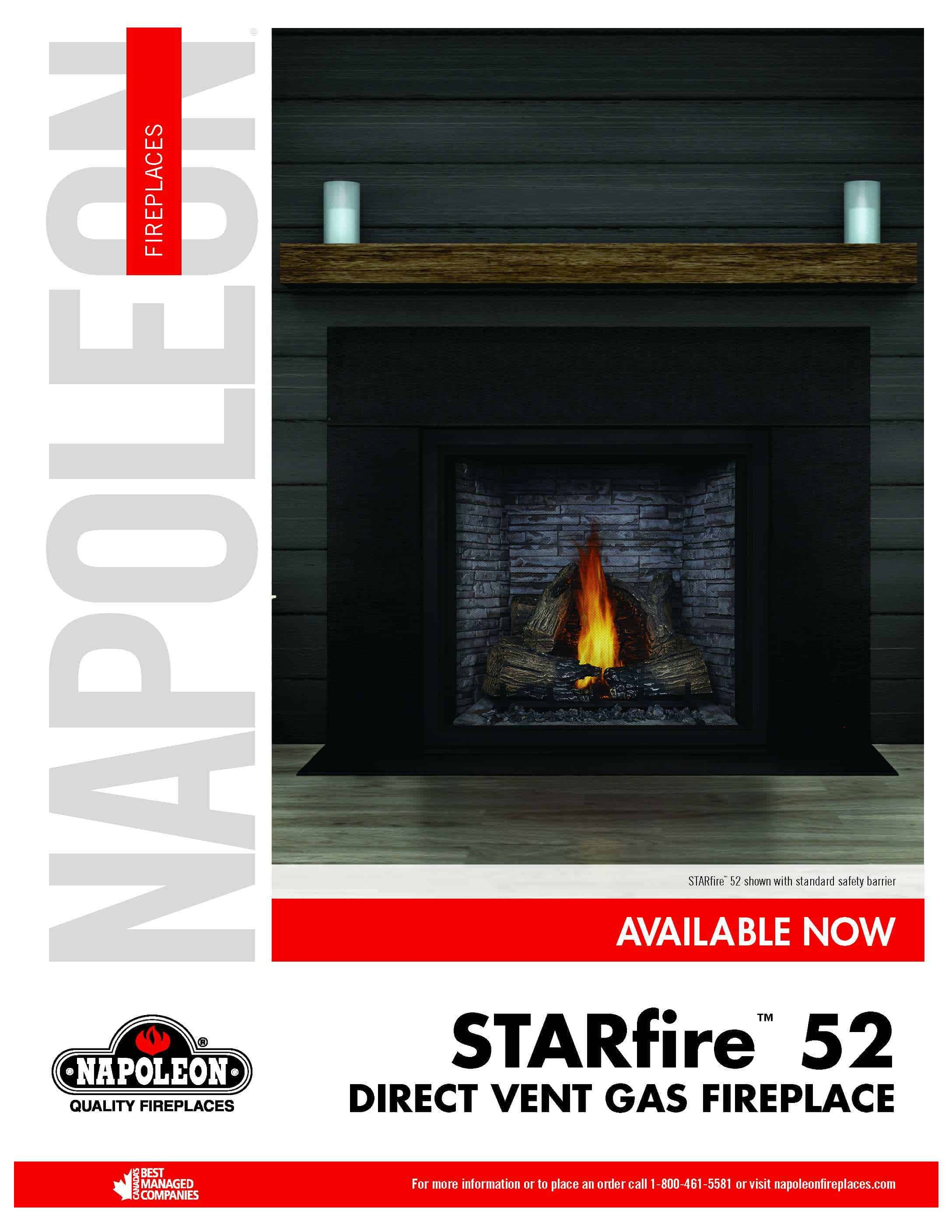 Biggest Gas Direct Vent Fireplace - STARfire™ 52 by Napoleon HDX52 1