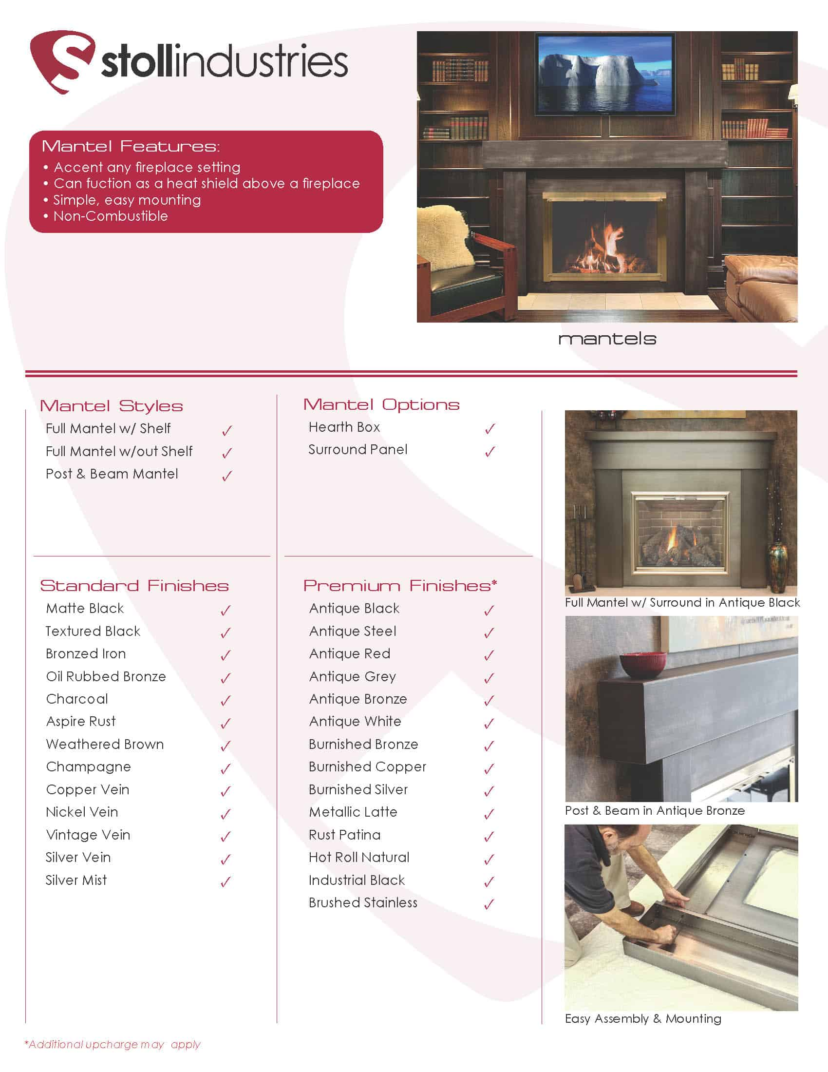 Stoll Industries Mantel Styles Traditional and Post & Beam 5