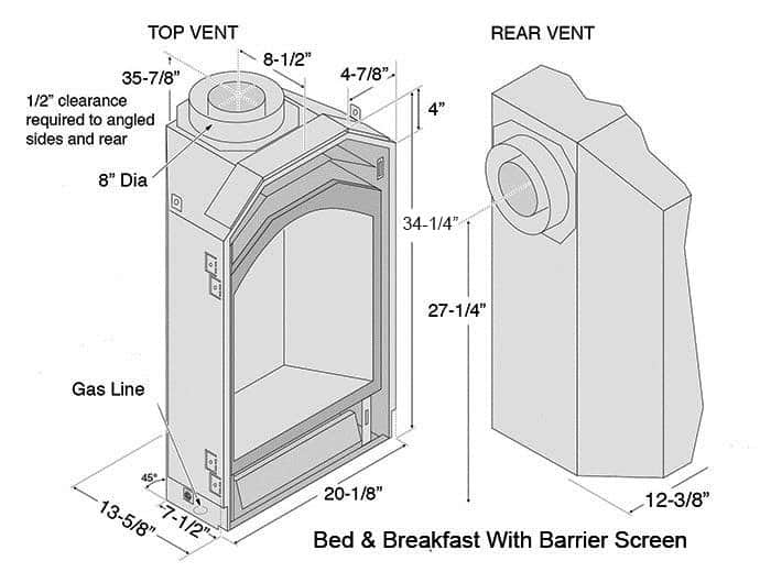 Bed and Breakfast TRV Deluxe Dimensions